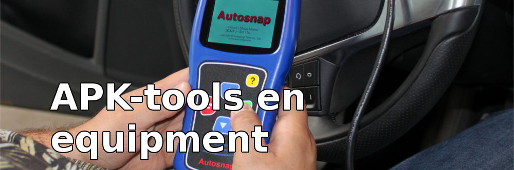 APK tools en equipment