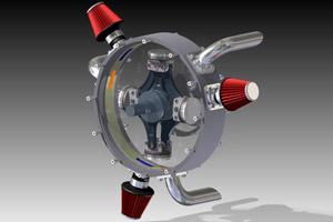 Radiale bi rotatie motor volmaakt in balans for Devaere interieur