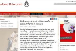 Blog: Kost VW-sjoemelsoftware echt 5000 mensenlevens?