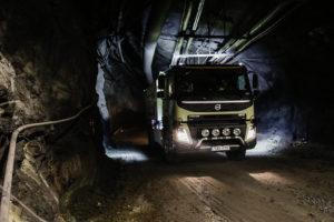 Truck rijdt autonoom in Zweedse mijn