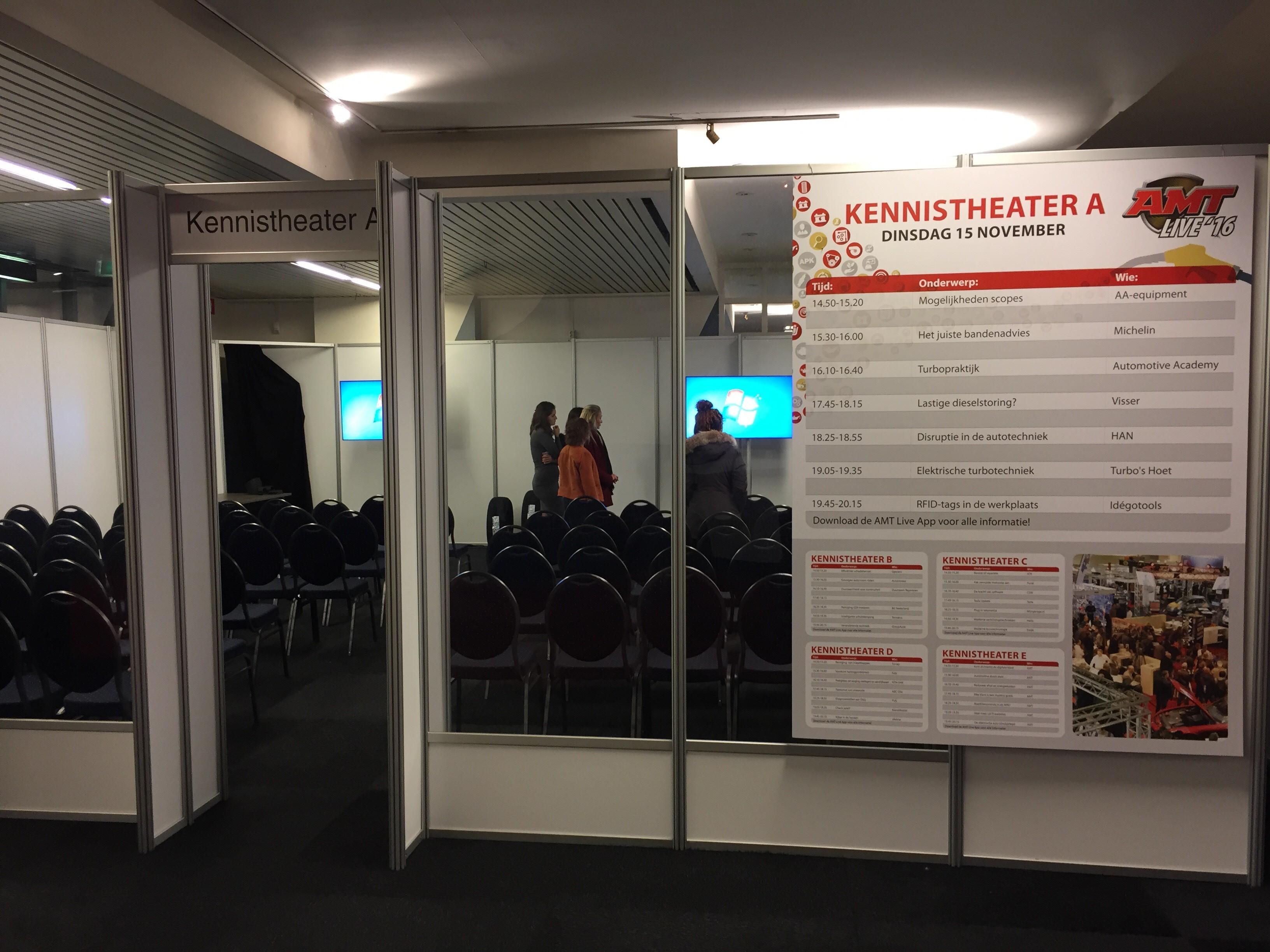 Kennistheater A is een van de vijf theaters waar je kennissessies kan volgen.