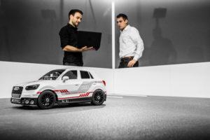 Audi Q2 deep learning concept schaalmodel bedenkt zelf parkeerstrategieën