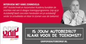 Hans Zonneveld is één van de coaches van het trainingsprogramma 'Grip op je Autobedrijf'.