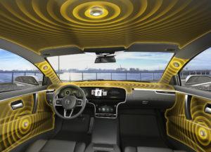 Continental luidspreker Er zit iets in, de hele auto is een klankkast die door NVH-specialisten zorgvuldig afgestemd wordt om geen hinderlijk geluid door te geven. Waarom dan niet afstemmen op prettig geluid?