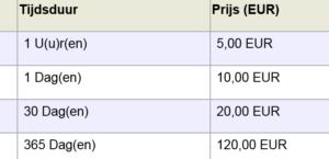 Wil je wel de GDS 2-diagnosesoftware maar geen jaarabonnement, dan zijn dit de prijzen voor losse abonnementen.