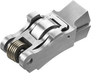 Delphi maakt gebruik van een cilinder de-activerende tuimelaar met roller.