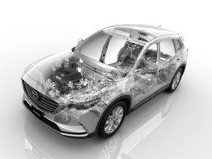 Mazda gebruikt eind dit jaar een variant op zijn 2,5-litermotor met cilinderuitschakeling uit de CX-9 uit Japan. Ook andere motoren zullen volgen, kun je tussen de regels horen.
